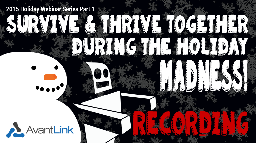 Holiday Webinar Part 1 - Recording Blog and tw