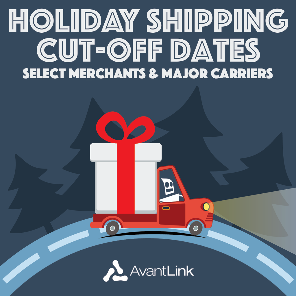 Holiday Shipping Dates 2015