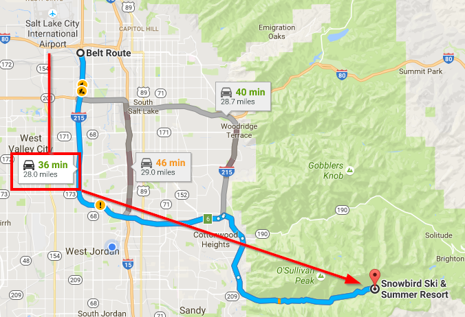 Just 36 minutes from airport to destination...in rush hour. Try doing that in L.A. or Vegas.