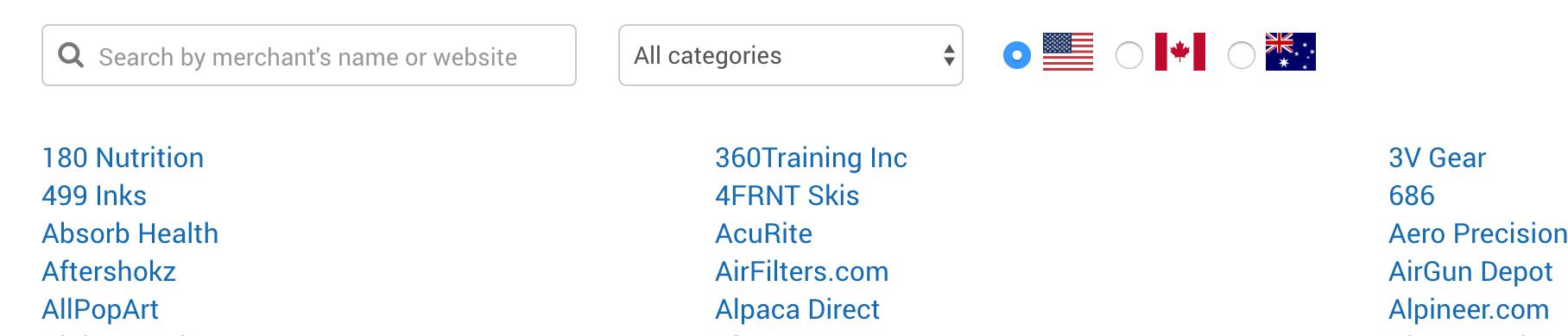 AvantLink merchant programs