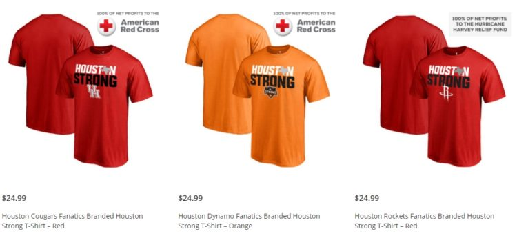 Houston Strong Fanatics Shirts